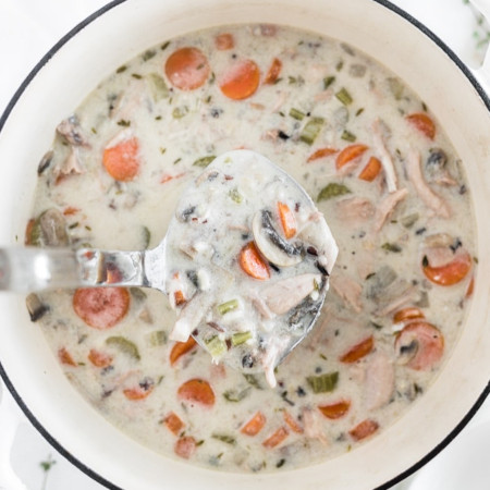 Healthy Leftover Turkey Wild Rice Soup